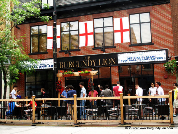 Burgundy Lion Montreal