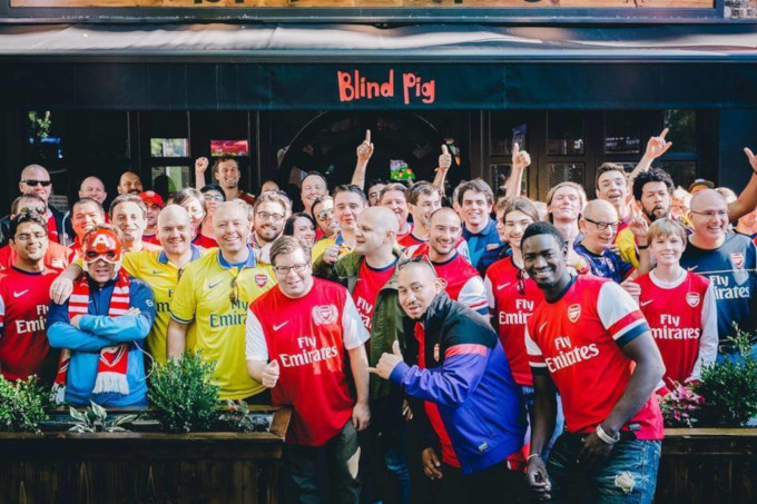 Blind Pig Arsenal fans NYC